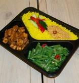 3-vaks maaltijd tahoe tempeh en kouseband