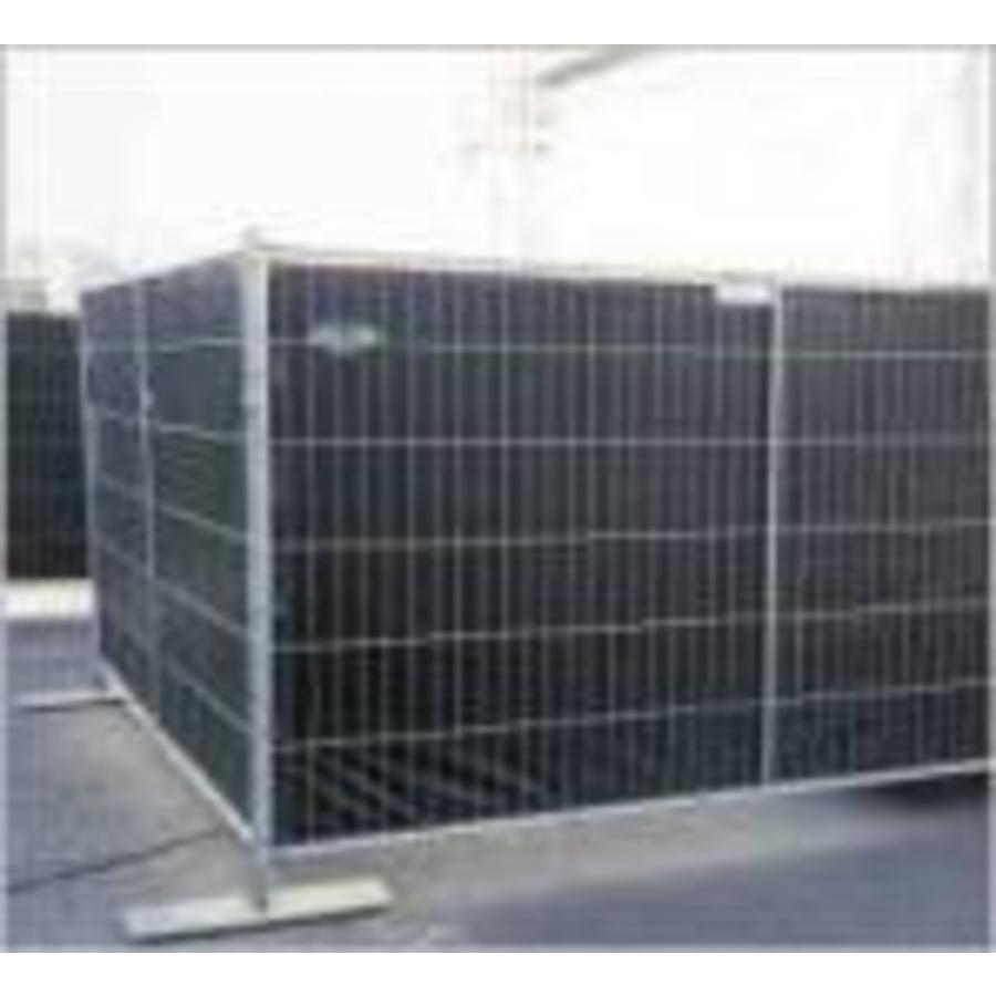 Lichtgewicht bouwhekzeil PE 150 gr/m2 NVO DIN4102-B1 - Zwart