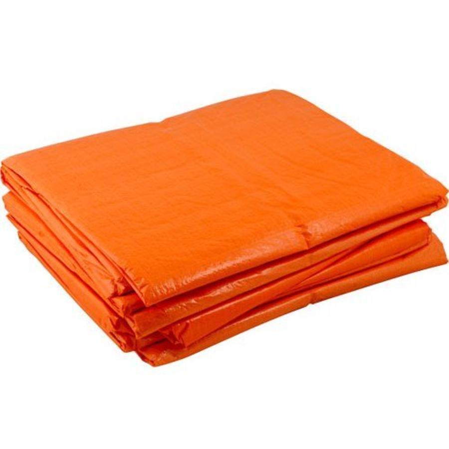 Afdekzeil 4x6 'Light' PE 100 gr/m2 - Oranje