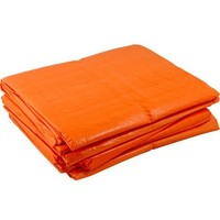 Afdekzeil 6x8 'Light' PE 100 gr/m2 - Oranje