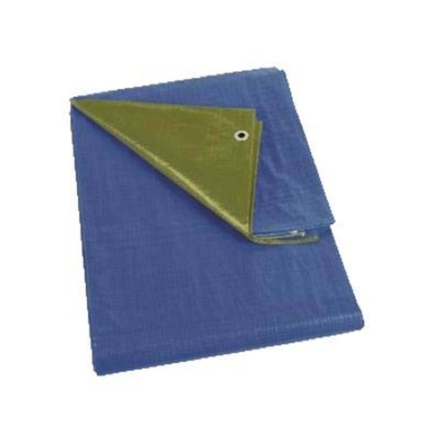 Afdekzeil 8x25 'Medium' PE 150 gr/m2 - Groen/Blauw