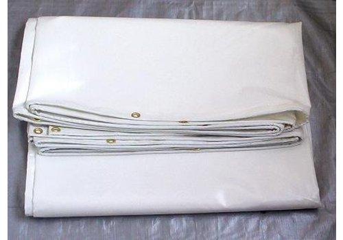 Dekzeil 4x6 PVC 650 NVO - Wit