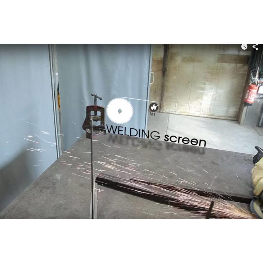 Dekzeil PVC/glasvezel 600 NVO M1 op maat gemaakt