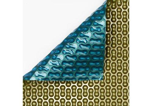 Zwembadzeil noppenfolie Blauw/Goud 500 micron