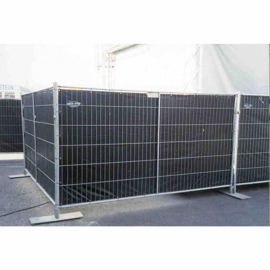 Bâche pour barrières en PE 150 gr/m² - Noir
