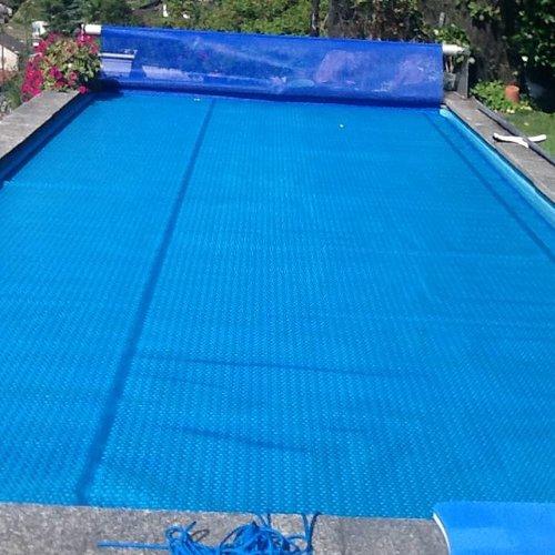 Zwembadafdekking for Afdekzeil zwembad blokker