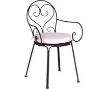 Acamp tuin of binnen stoelen set van 4 Nizza Zwart