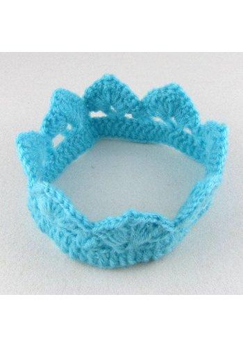 SALE - Gehaakt kroontje - Aqua Blauw