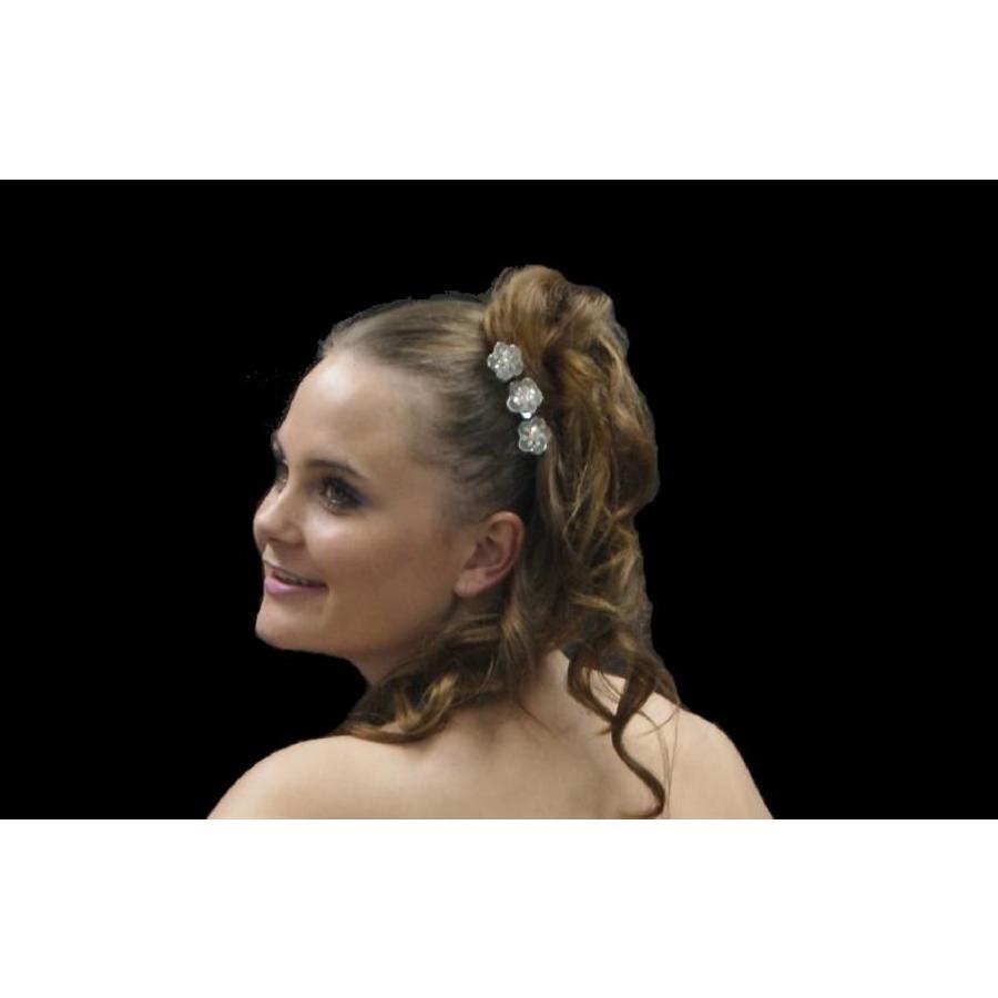 Hairpin - Zilverkleurig met Strass Kristallen-7