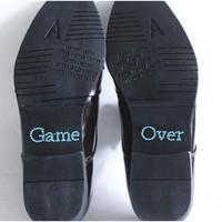 thumb-SALE - 'Game Over' Sticker - Aqua Blauw-1
