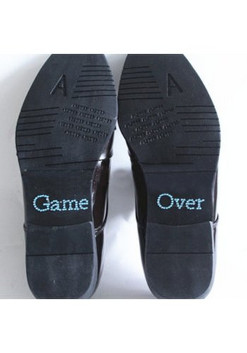 SALE - 'Game Over' Sticker - Aqua Blauw