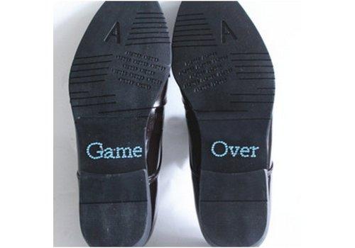 SALE - 'Game Over' Sticker - Aqua Blauw