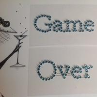 thumb-SALE - 'Game Over' Sticker - Aqua Blauw-2