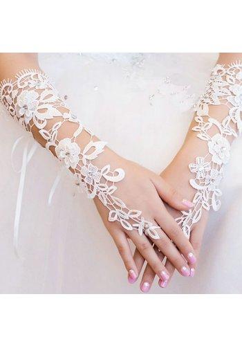 Stijlvolle Bruidshandschoenen - Off White