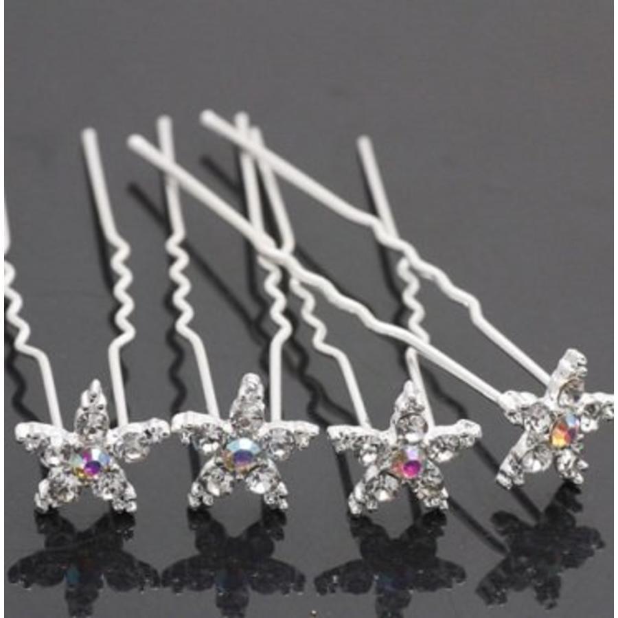 Hairpins – Bloemetje Kristal - 4 stuks-1
