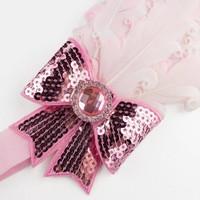 thumb-Haarband Veer met Strik- Licht Roze-2
