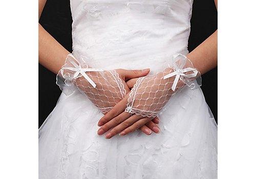 Prachtige Witte Bruidshandschoenen