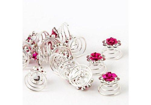 SALE - Roze Curlies - 6 stuks