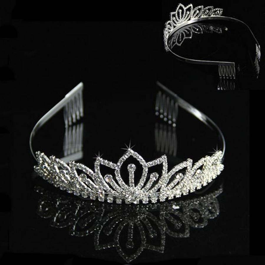 Elegante Fonkelende Tiara / Kroon-1