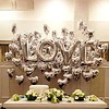 SALE - LOVE - Helium Ballonnen - Zilver