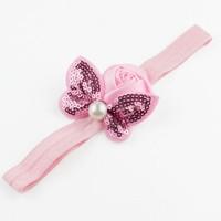 thumb-Haarband Roosje met Vlinder - Roze-3