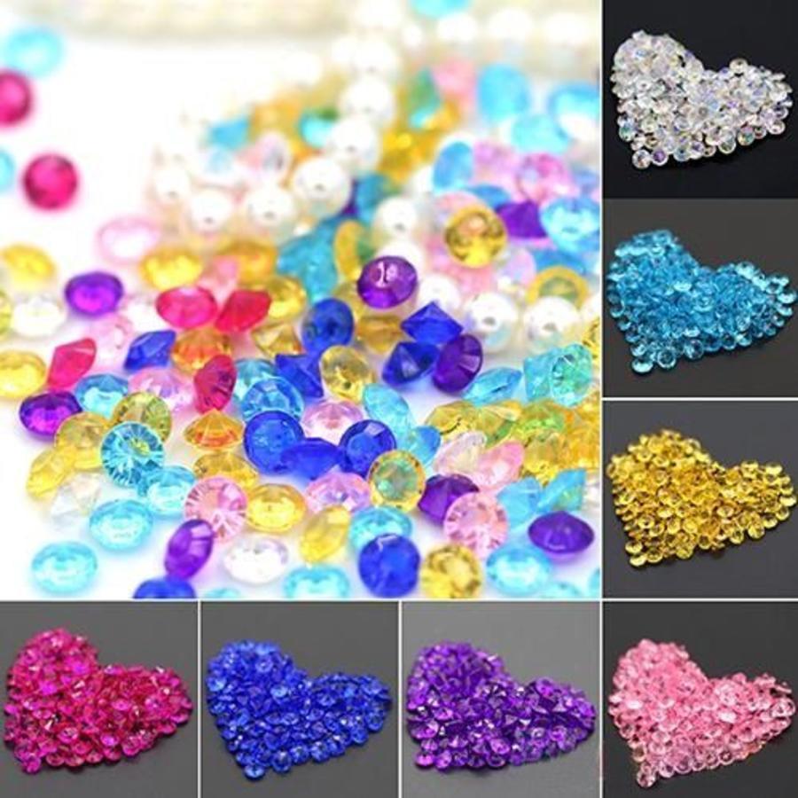 Decoratie Steentjes - Diamantjes - Aqua Blauw - 1000 stuks-2