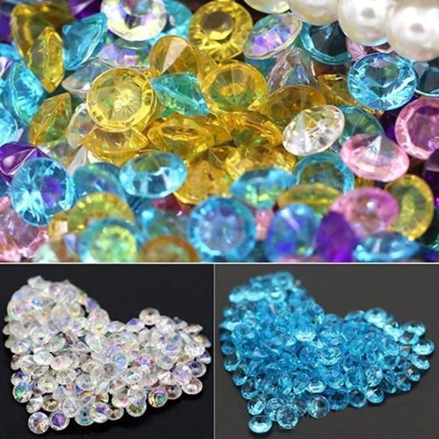 Decoratie Steentjes - Diamantjes - Aqua Blauw - 1000 stuks-3
