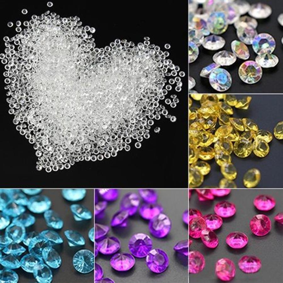 Decoratie Steentjes - Diamantjes - Aqua Blauw - 1000 stuks-4