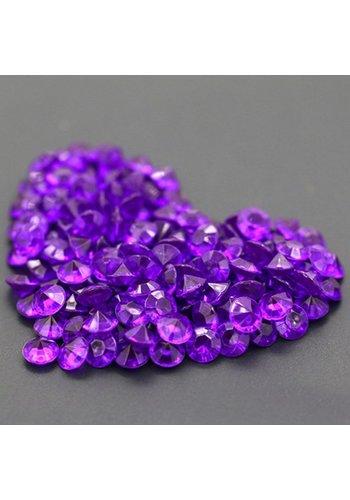 Decoratie Steentjes - Diamantjes - Paars - 1000 stuks