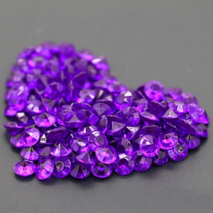 Decoratie Steentjes - Diamantjes - Paars - 1000 stuks-1