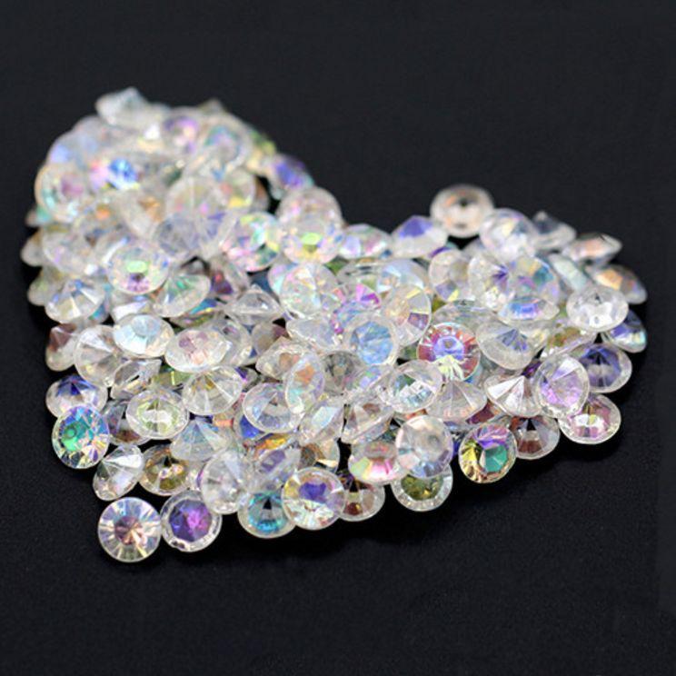 Decoratie steentjes diamantjes clear crystal 1000 for Decoratie steentjes