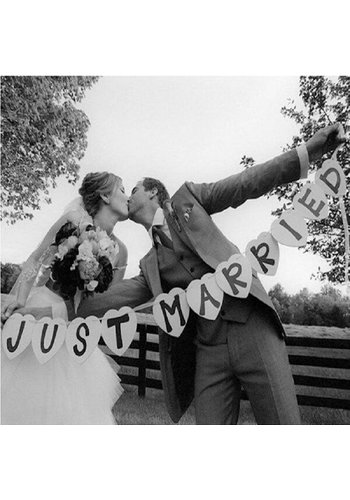 Just Married Hart Slinger- Bruiloft Decoratie