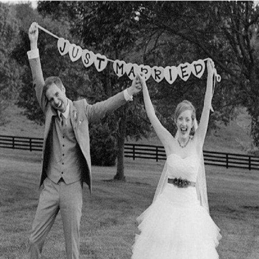 Just Married Hart Slinger- Bruiloft Decoratie-3