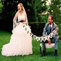 thumb-Just Married Hart Slinger- Bruiloft Decoratie-4