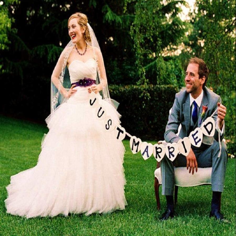 Just Married Hart Slinger- Bruiloft Decoratie-4