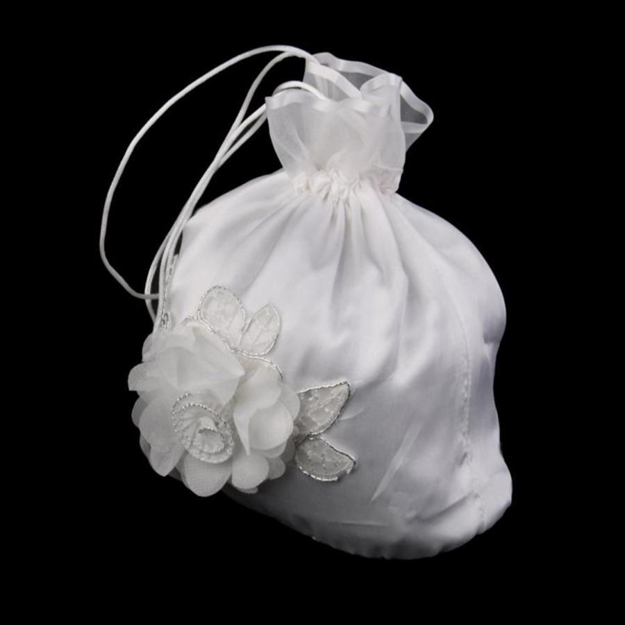 Bruidstasje Bloem - Ivoor-1