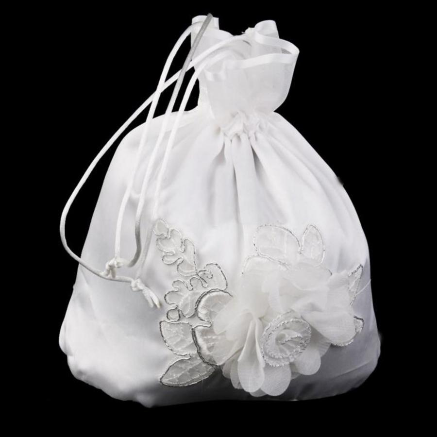 Bruidstasje Bloem - Ivoor-2