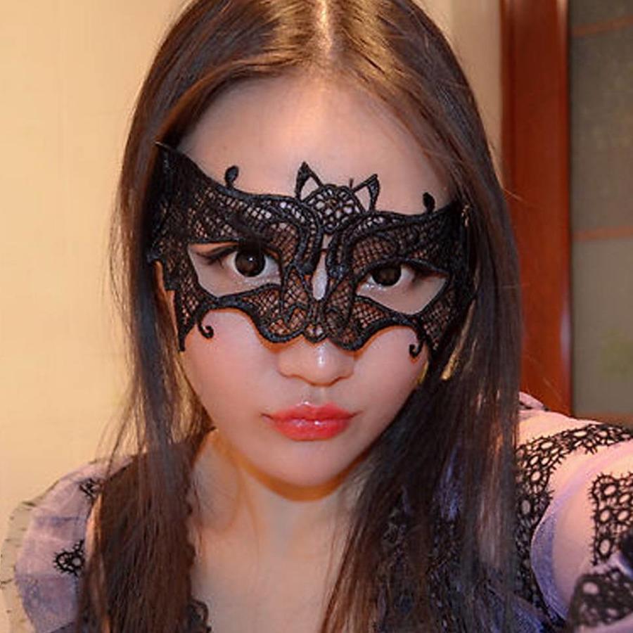 Party Masker -Vleermuis - Zwart - 005-2