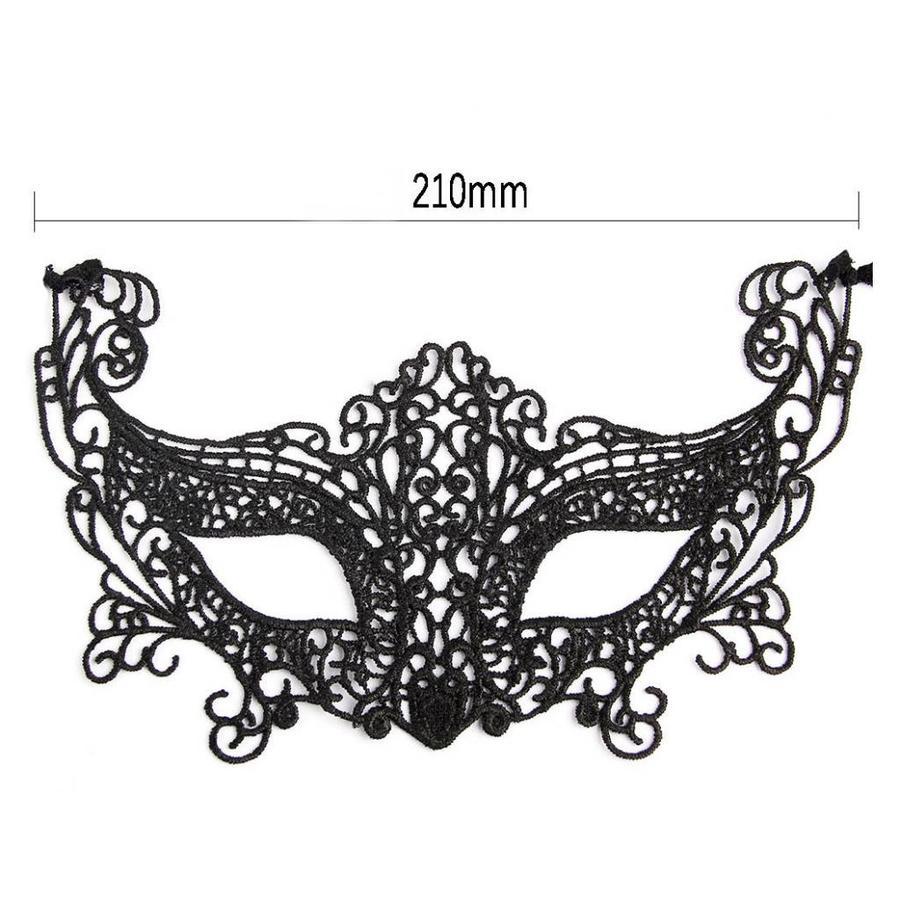 SALE - Party Masker - Zwart - 007-2
