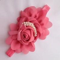 thumb-Haarband Bloem - Oud Roze-4