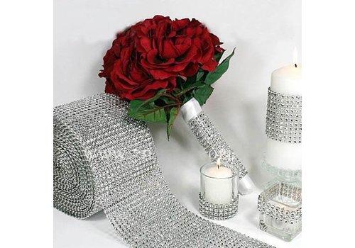 Diamanten 'Lint' - 90 cm. - Zilver -  Bruiloft Decoratie - DIY