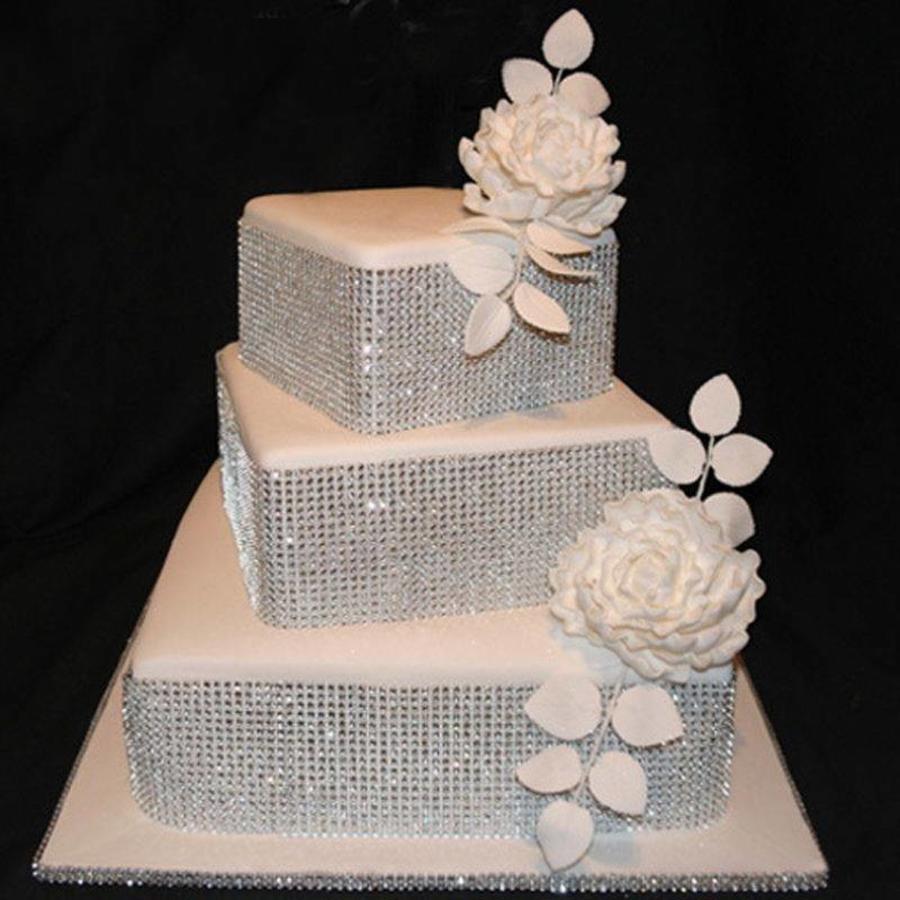 Diamanten 'Lint' - 90 cm. - Zilver -  Bruiloft Decoratie - DIY-2