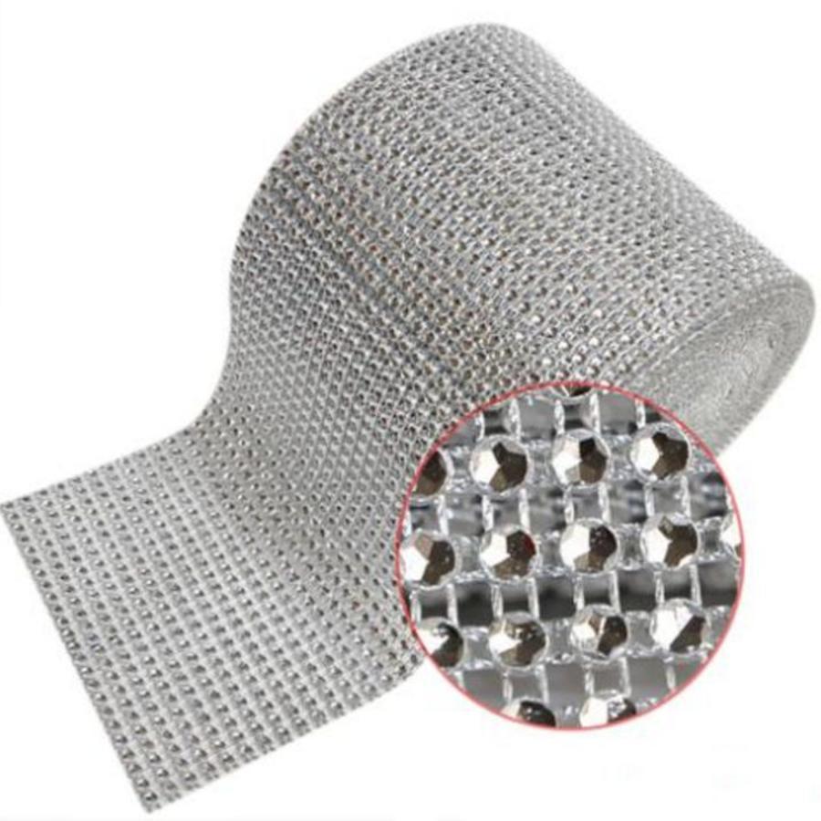 Diamanten 'Lint' - 90 cm. - Zilver -  Bruiloft Decoratie - DIY-3