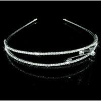 SALE - Chique 2-laags Tiara / Diadeem met Fonkelende Kristallen