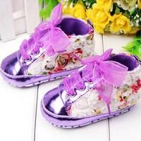 thumb-Bloemen Sneakers - Paars / Lila - 011-2