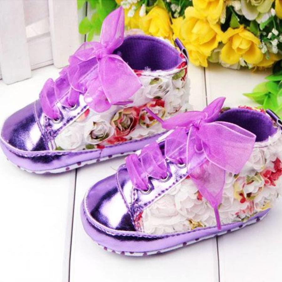 Bloemen Sneakers - Paars / Lila - 011-2