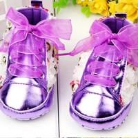 thumb-Bloemen Sneakers - Paars / Lila - 011-3