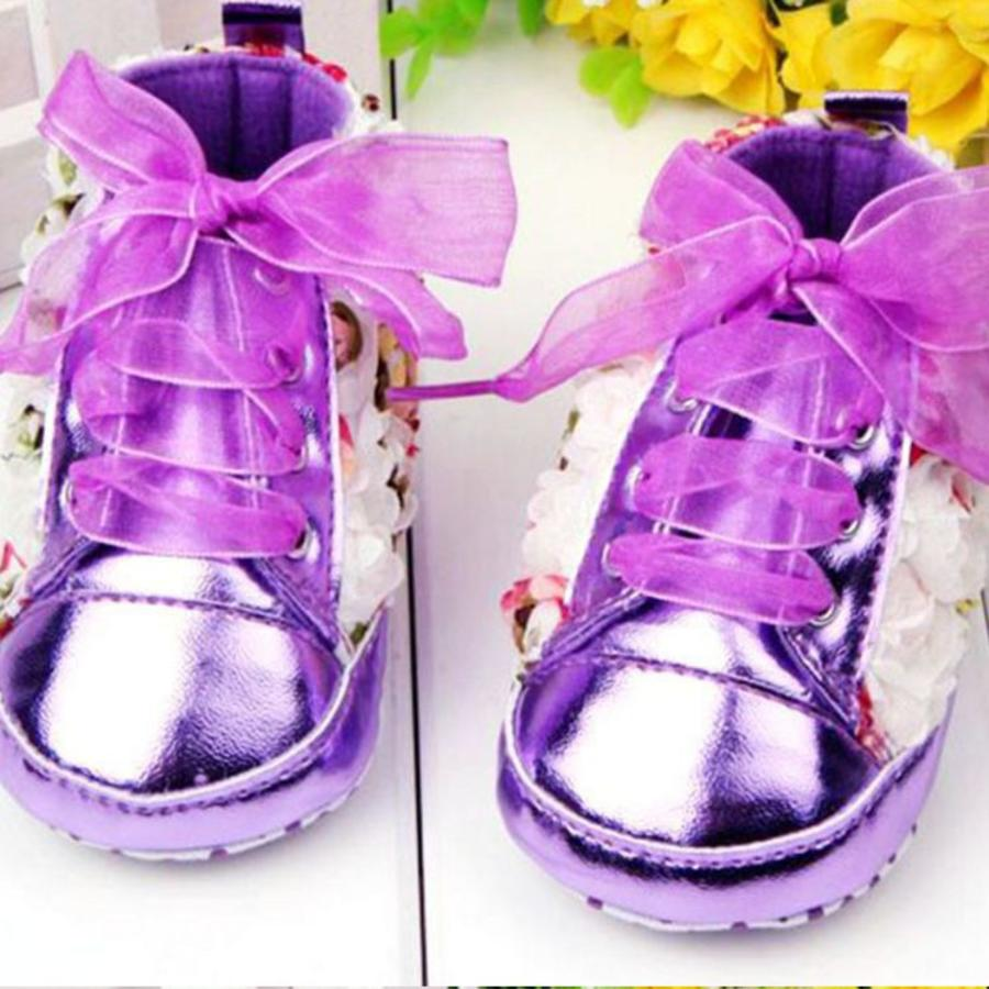 Bloemen Sneakers - Paars / Lila - 011-3