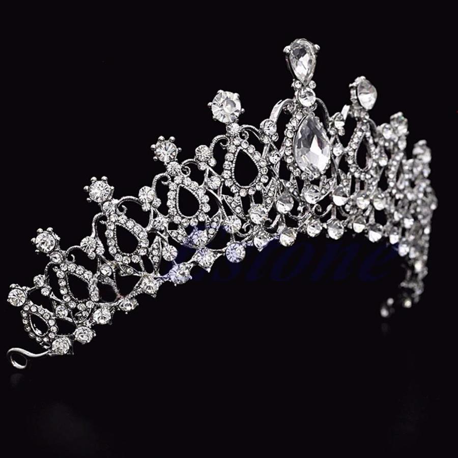Fonkelende Kristallen Tiara / Kroon-5