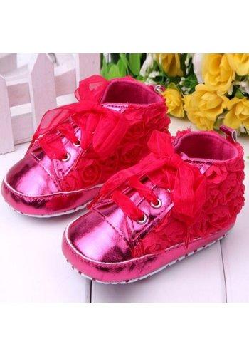 Roze Sneakers met Bloemetjes - 015